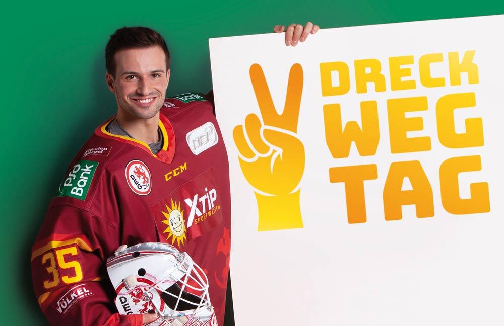 Mathias Niederberger nimmt am Dreck-Weg-Tag teil!