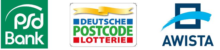 PSD-Bank, Deutsche Postcode Lotterie, Awista - Partner
