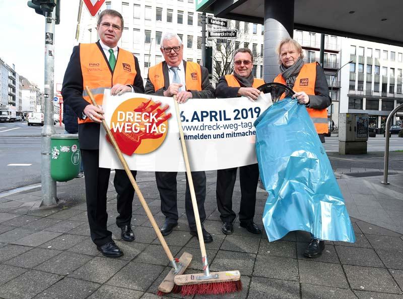 Pressekonferenz Pro Düsseldorf - Initiator des Dreck-Weg-Tags